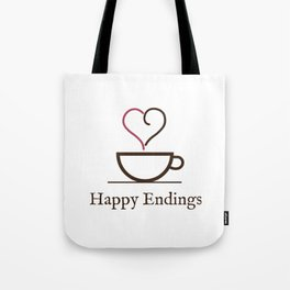 Happy Endings Podcast Logo Tote Bag