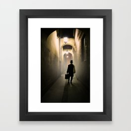 Victorian man with top hat Framed Art Print