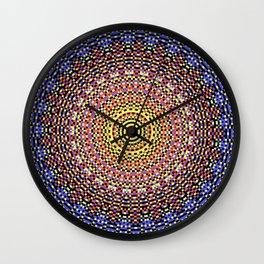 New Color Pyramidal Mandala 48 Wall Clock