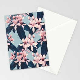 Galphimia in Prussian Blue Stationery Cards