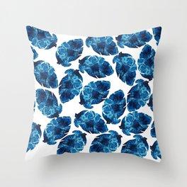 Ocean Leaves Throw Pillow