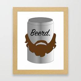 Beerd. Framed Art Print