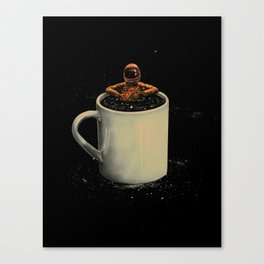 Space Coffee Canvas Print