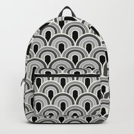 Rainbow Connection: Small: Black, White, Grey Backpack