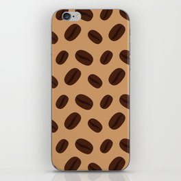 Cool Brown Coffee beans pattern iPhone Skin