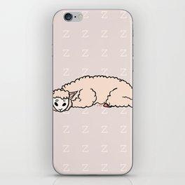 zzz - Sleeping Alpaca iPhone Skin