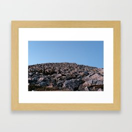 Medicine Bow Boulder Field Framed Art Print
