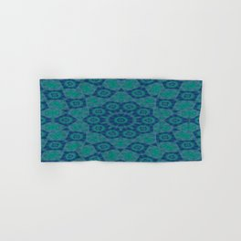 Jade , Aqua and Turquoise Symmetrical Pattern Hand & Bath Towel