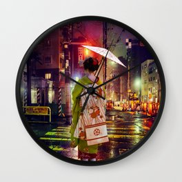 Geisha in Modern Japan Wall Clock
