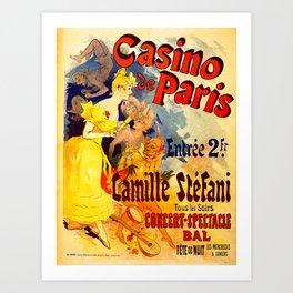 Vintage poster - Casino de Paris Art Print