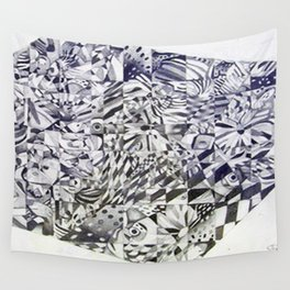 Cubed Butterflies Wall Tapestry