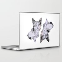fat Laptop & iPad Skins featuring fat cat by vasodelirium