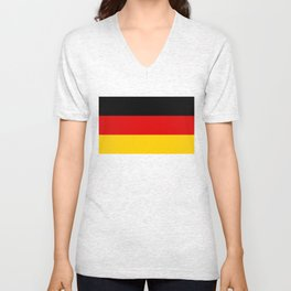 German flag - High Quality version both in scale and color Unisex V-Neck