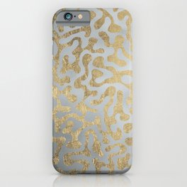 Modern elegant abstract faux gold silver pattern iPhone Case