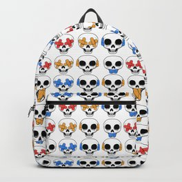 Cute Skulls No Evil II Pattern Backpack