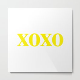 Yellow XOXO Metal Print