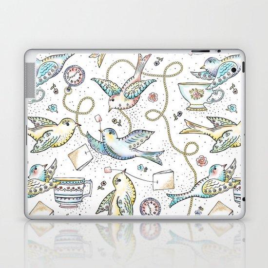 Twittering Tea Party Laptop & iPad Skin