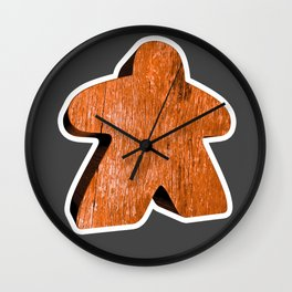 Giant Orange Meeple Wall Clock