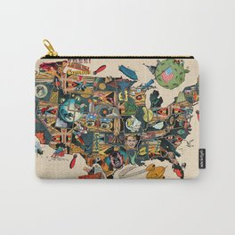 Pre election angst comics map of USA Carry-All Pouch