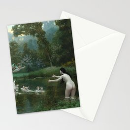 LEDA AND THE SWAN - JEAN-LEON GEROME Stationery Cards