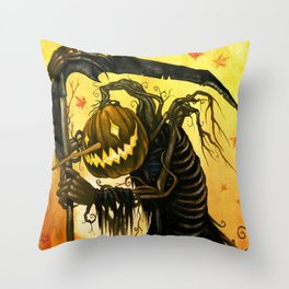 Autumn Harvester Throw Pillow