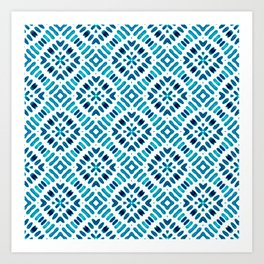 Shibori Watercolour no.7 Turquoise Art Print