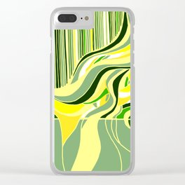 Swell Green Clear iPhone Case
