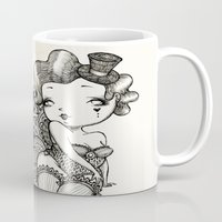 burlesque Mugs featuring Chubby Burlesque by Sabrina Eras