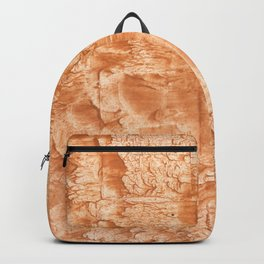 Peach nebulous watercolor Backpack