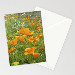 california poppy VIII Stationery Cards