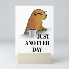 just anotter day in the to work on the computer Mini Art Print