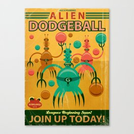 Alien Dodgeball Canvas Print