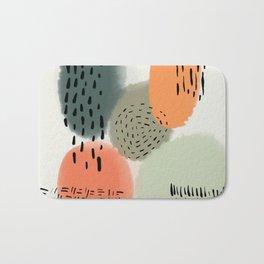 Abstract Fall Watercolor Bath Mat