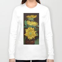 sunflowers Long Sleeve T-shirts featuring Sunflowers by Michael Creese