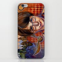 quidditch iPhone & iPod Skins featuring Harry's First Quidditch Match by S.G. DeCarlo