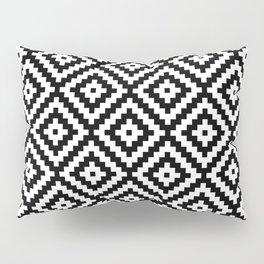 Aztec Block Symbol Ptn BW II Pillow Sham