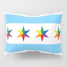 Chicago Pride Flag Pillow Sham