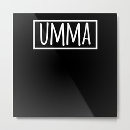 Umma Mom in Korean Hangul South Korea Metal Print