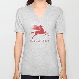 Dallas Texas Pegasus Unisex V-Neck