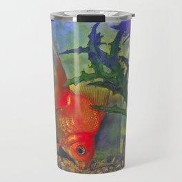 Diving Goldfish Travel Mug