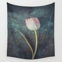 tulip Wall Tapestries featuring Tulip by Maria Heyens