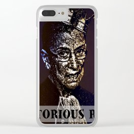Notorious R.B.G. Funny Progressive, Liberal Ruth Bader Ginsburg Clear iPhone Case