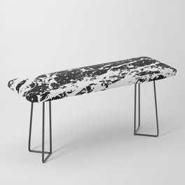 Black and White Paint Splatter Bench