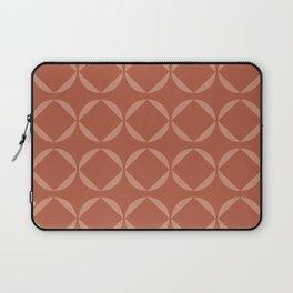 Simple Geometric Pattern in Terracotta Laptop Sleeve