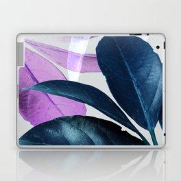Blue Violet Leaves Laptop & iPad Skin