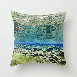Straddling Continents Throw Pillow