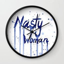 Nasty Woman Art Wall Clock
