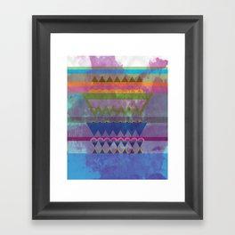 Old Fabric Framed Art Print