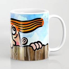 Watercolor Peering Man Coffee Mug