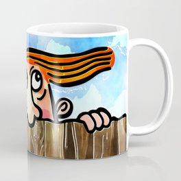 Watercolor Peering Man Coffee Mug